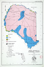 Mineral resources of Suwannee County, Florida ( FGS: Map series 137 )