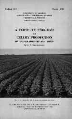A fertility program for celery production on Everglades organic soils