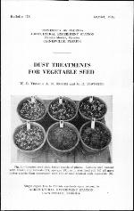 Dust treatments for vegetable seed