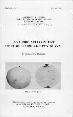 Ascorbic acid content of some Florida-grown guavas