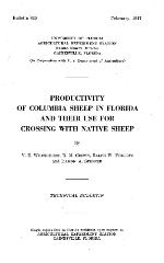 Productivity of Columbia sheep in Florida and their use for crossing with native sheep