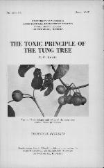 The toxic principle of the tung tree