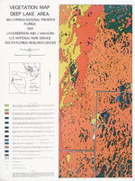 Vegetation map Deep Lake area, Big Cypress National Preserve, Florida 1981