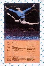 Gator Gymnastics schedule poster