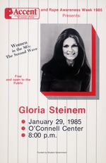 Accent Speaker Gloria Steinem on campus for Rape Awareness Week