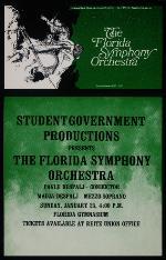 Florida Symphony Orchestra concert poster