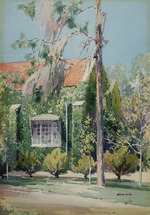 Painting of a University of Florida building