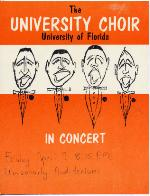 Poster advertising a concert by the University of Florida University Choir.