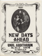 A poster announcing the group New Days Ahead in concert at the University of Florida