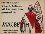 A poster advertising the play Macbeth at the University of Florida