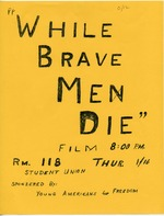 A poster for a film at the University of Florida sponsored by Young Americans for Freedom