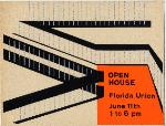 A flyer announcing an open house at the Florida Union