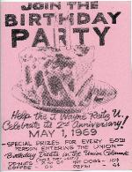 A poster announcing a birthday party of the Reitz Union