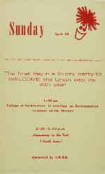 A poster announcing the events for the 4th birthday of the Reitz Union