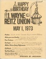Happy Birthday J. Wayne Reitz Union poster (University of Florida Archives Graphics Collection: G-377)