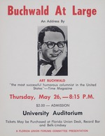 Buchwald At Large, an address by Art Buchwald at the University of Florida