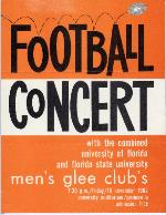 Football Concert poster (University of Florida Archives Graphics Collection: G-426)