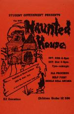 Poster for the 1986 Haunted House sponsored by the University of Florida Student Government at the Institute of Black Culture