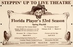 A flyer for the Florida Players' 53rd season at the University of Florida, Steppin' Up To Live Theater
