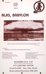 """A poster for a Florida Players presentation of """"Alas, Babylon"""" at the University of Florida (G-446)"""