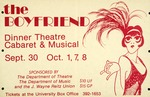 "A poster for a Florida Players presentation, ""The Boyfriend,"" at the University of Floria"