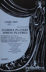 A poster for the Florida Players spring schedule at the Constans Theatre, Come Join Us