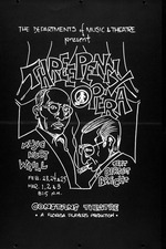 A poster advertising a play, Three Penny Opera, at the University of Florida