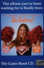 A poster advertising a new CD of the University of Florida Bands