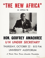 Florida Union Forums Committee Poster: Godfrey Amachree and The New Africa  - 1964