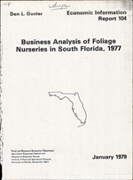 Business analysis of foliage nurseries in South Florida