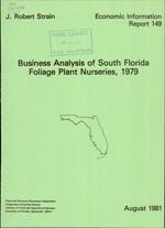 Business analysis of south Florida foliage plant nurseries
