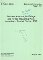 Business analysis for foliage and potted flowering plant nurseries in central Florida