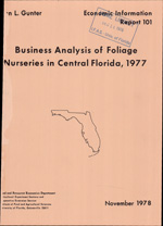 Business analysis of foliage nurseries in Central Florida
