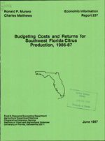 Budgeting costs and returns for Southwest Florida citrus production