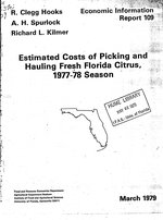 Estimated costs of picking and hauling fresh Florida citrus, 1977-78