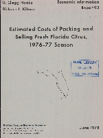 Estimated costs of packing and selling fresh Florida citrus