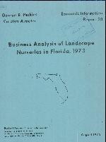 Business analysis of landscape nurseries in Florida