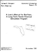 A user's manual for Beefloan, a long-term ranch financial simulation program