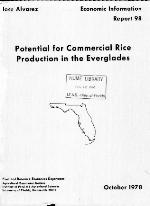 Potential for commercial rice production in the Everglades