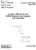 A user's manual for the FARM Systems Lab irrigation cost generator