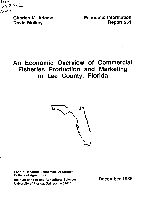 An Economic overview of commercial fisheries production and marketing in Lee County, Florida