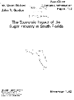 The economic impact of the sugar industry in South Florida