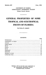 General properties of some tropical and sub-tropical fruits of Florida