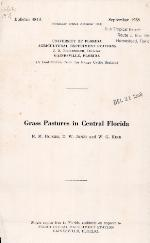 Grass pastures in Central Florida
