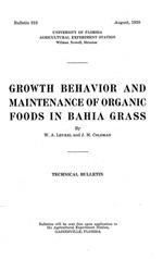 Growth behavior and maintenance of organic foods in bahia grass