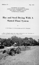 Hay and seed drying with a slatted floor system