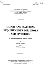 Labor and material requirements for crops and livestock