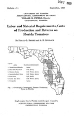 Labor and material requirements, costs of production and returns on Florida tomatoes