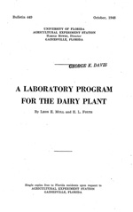 A laboratory program for the dairy plant