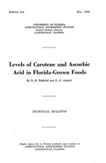 Levels of carotene and ascorbic acid in Florida-grown foods